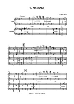 Kangourous, arranged for Piano Duet