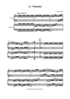 Pianistes, arranged for Piano Duet